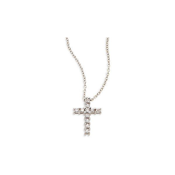 KC Designs Diamond & 14K White Gold Cross Pendant Necklace ($549) ❤ liked on Polyvore featuring jewelry, necklaces, white gold, diamond chain necklace, diamond necklace, pendant necklace, cross chain necklace and white gold necklace
