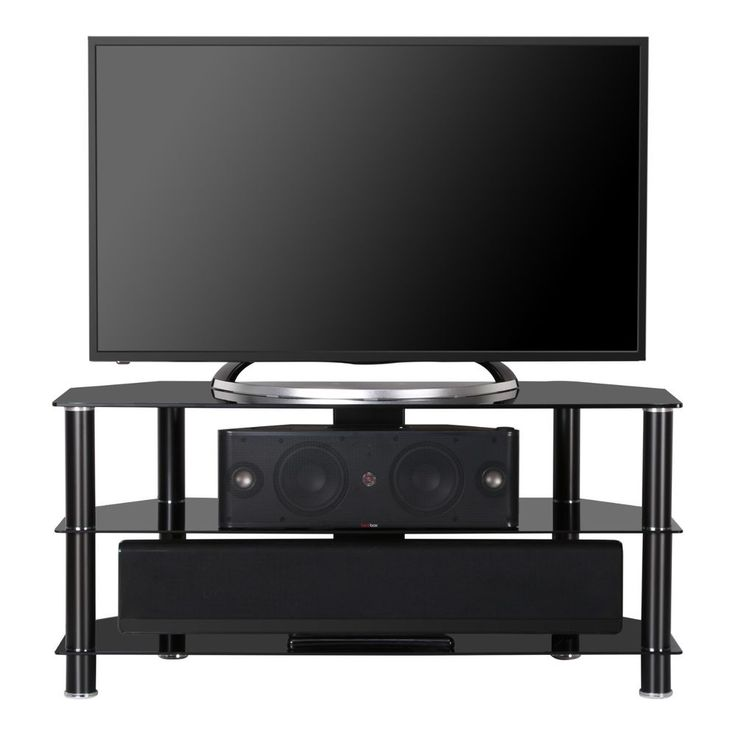 Fenge TV Stand With 41 Inch Black Glass for 32-46 Inch Television/Xbox One/DVD #Fenge #Morden