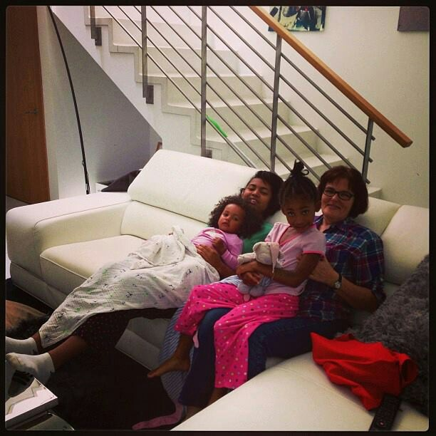 Mel B's daughters having grandma time :-)