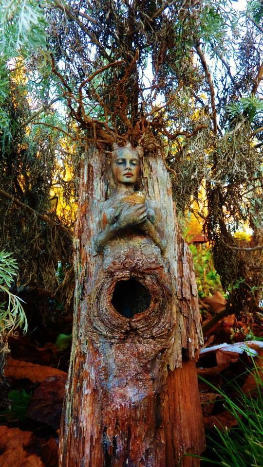 Sculpture by Debra Bernier. 'Tree Spirit'