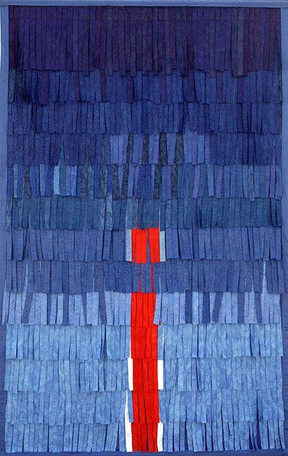 """Abdoulaye Konaté, """"Composition 3"""", textile, 2012"""