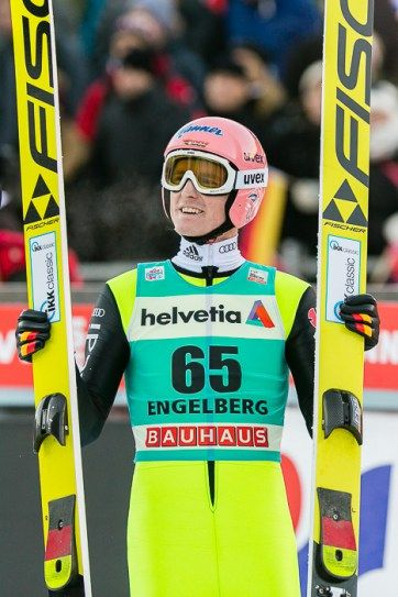 Skispringer Severin Freund beim Skispringen Welt Cup in Engelberg / Schweiz | Sportfotograf Kassel