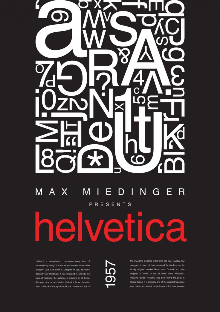 max miedinger Max miedinger (helvetica) max miedinger swiss (1910-1980) paragraph example: sample paragraph is from: helvetica sample.