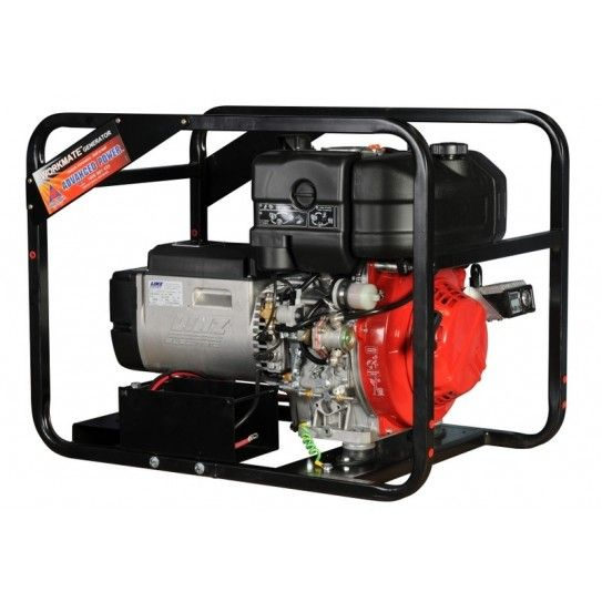 Kohler Powered Diesel 6.0 KVA 15LD440 Electric Start ROF. This unit packs all the diesel reliability and economy into a portable package that is ideal for the trade. The generator is powered by a leading Kohler diesel engine with an electric start to provide an output of 4800 watts.