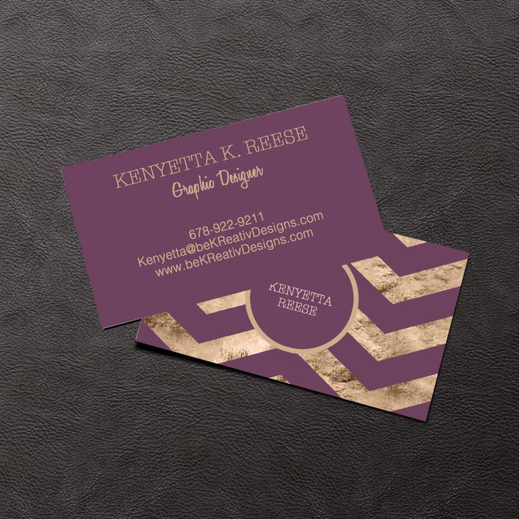 Business Card Design Plum & Gold Business Card Digital Download business essentials by KMOMedia on Etsy