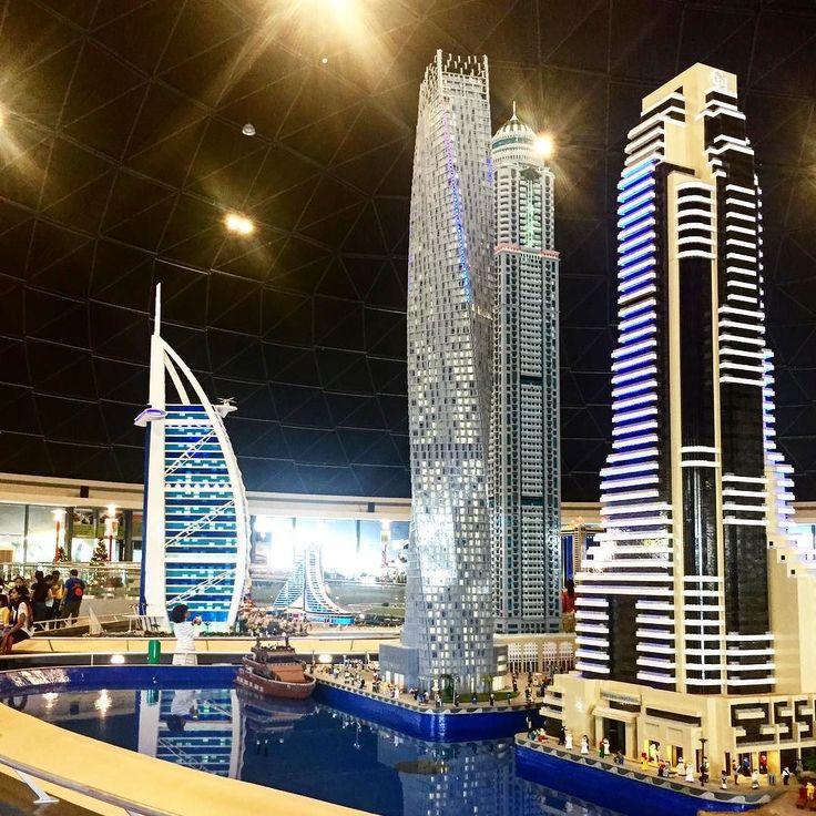 Dubai made of #lego  @legolanddubai #burjalarab #cayantower #impressive