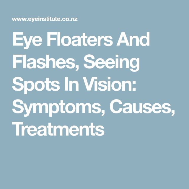 Eye Floaters And Flashes, Seeing Spots In Vision: Symptoms, Causes, Treatments