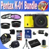 Online Pentax K-01 16MP APS-C CMOS Compact Technique Camera With 18-55mm and 55-200mm Lens (Yellow) + Prolonged Lifestyle Battery + 32GB SDHC Course 10 Memory Card + USB Card Reader + Memory Card Wallet + Deluxe Circumstance w/Strap + Shock Proof Deluxe Scenario + Mini HDMI to HDMI Cable + three Piece Expert Filter Package + Tremendous Broad Angle Lens + 2x Telephoto Lens + Accent Saver Bundle! Critiques - http://buyingmanual.com/online-pentax-k-01-16mp-aps-c-cmos-compact-tec