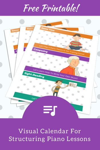How To Structure Piano Lessons Using These Two Printable Visual Calendars | Teach Piano Today