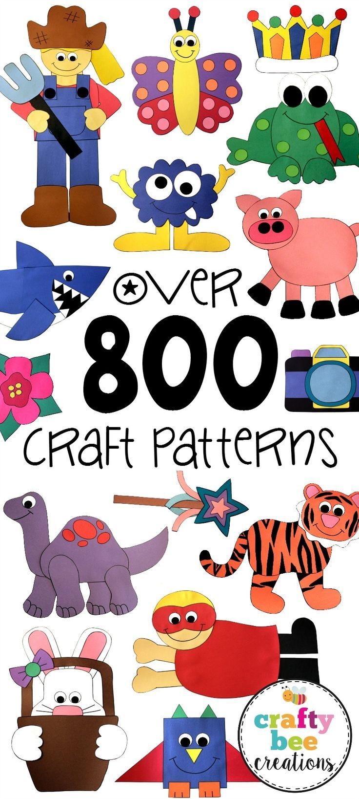Find over 800 craft patterns here, lots of different themes. All patterns are…