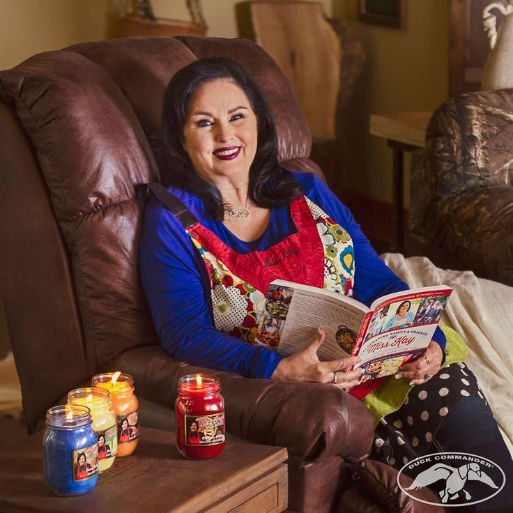 Miss Kay # Duck Commander candles and cookbook More