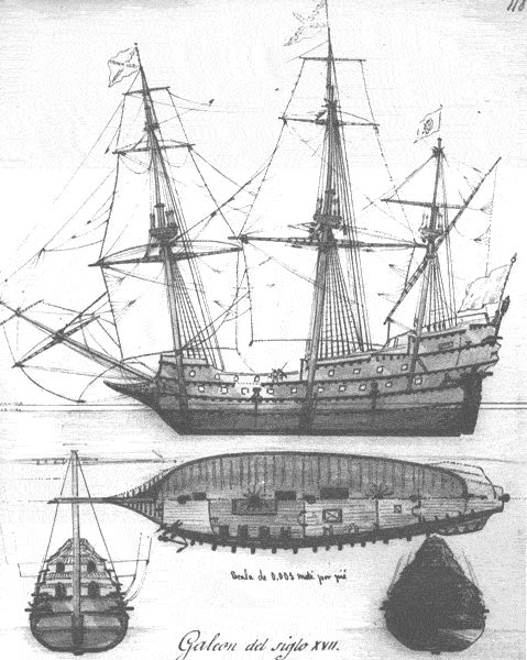Spanish Galleon used in the Manila trade.