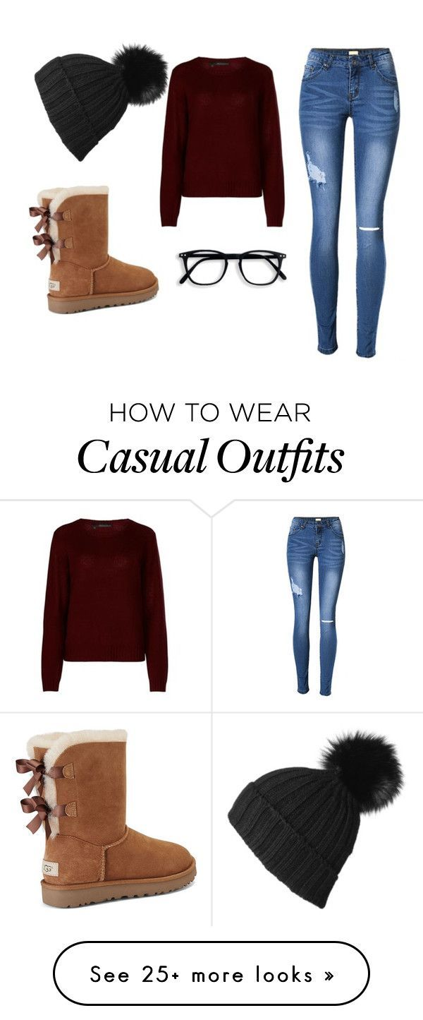 casual warm holiday season by brendanataly on Polyvore featuring 360cashmere, UGG and Black