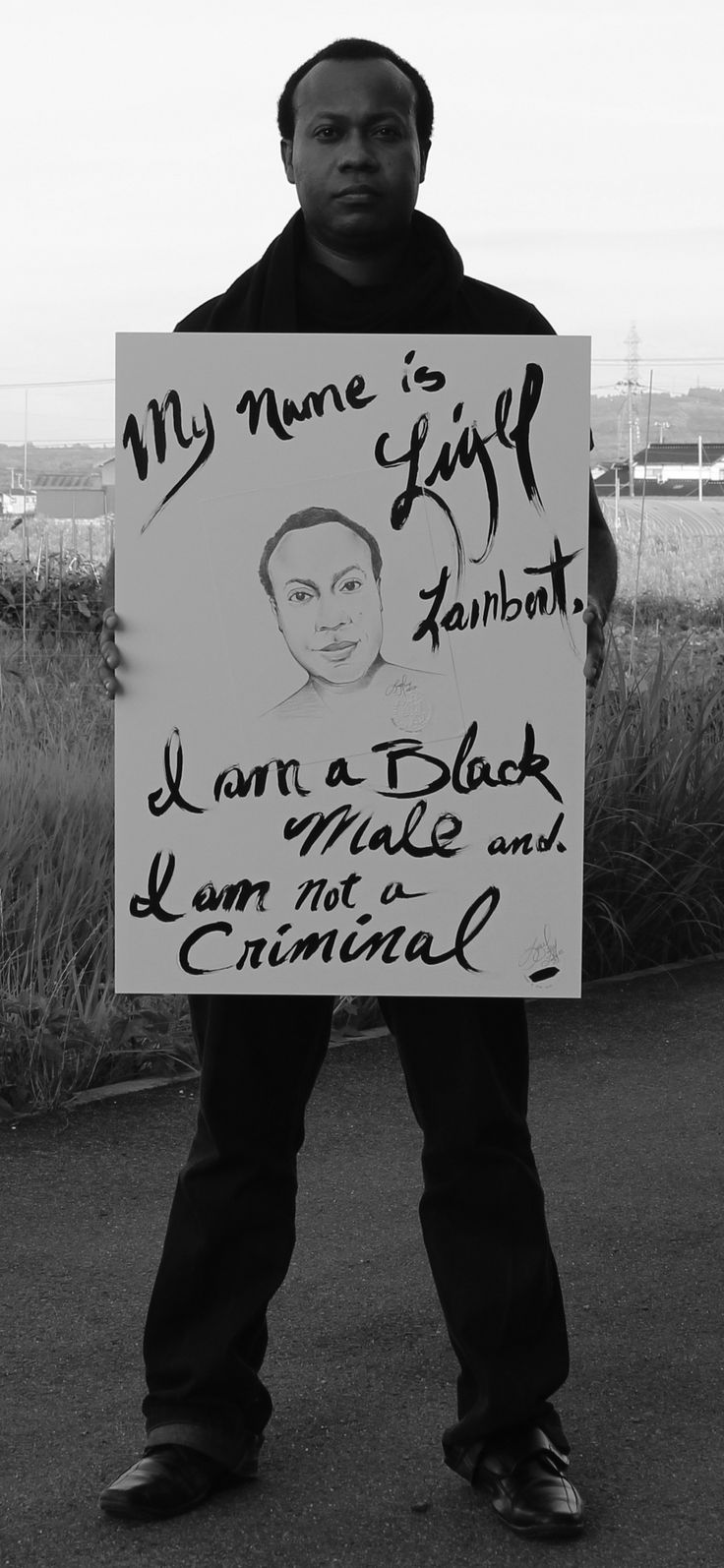 Performance piece created as a protest against fault acquisition, racial profiling, bigotry, stereotypes and racism WORLDWIDE!!.