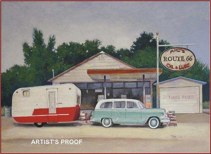 Paige bridges vintage travel trailer art co parkinson foundation route