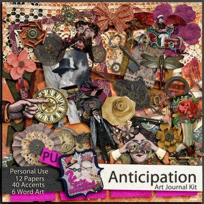 Anticipation ~ Art Journal Kit STEAMPUNK!!