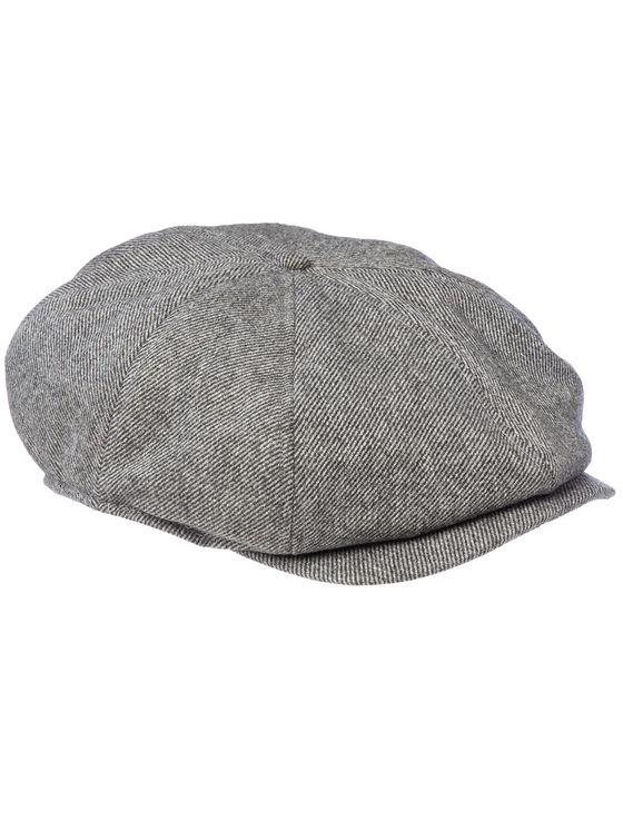 THE BUMPY MK2- Grey  Woollen 8-panel baggy cap