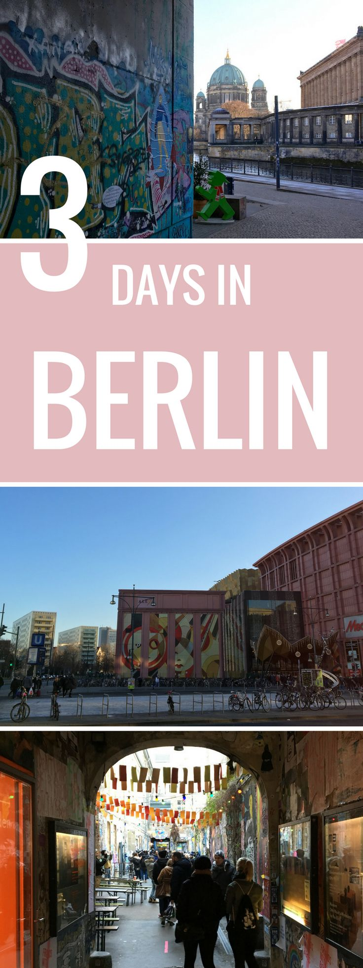 Berlin is such a great city! More influenced by eastern Europe than I expected. We had three days in Berlin and celebrated New Years Eve there. Christmas is the best time to travel. Have 24 hours in Berlin, here is your go to list of what to do and what to see. Even if you have 48 hours or 72 hours in Berlin, I've got something for you! See a full overview of what to do and see in Berlin.