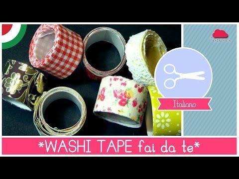 Tutorial come fare il WASHI TAPE (nastro adesivo decorato) fai da te - Idea pacchetti regalo - YouTube