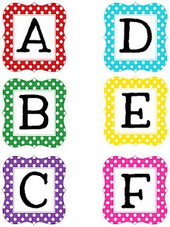 Free printable letter sets... for my word wall? (They would match my book boxes!)