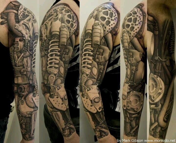 ★ Visit ~ MACHINE Shop Café ★ ★ Biomechanical Men Tattoos ★