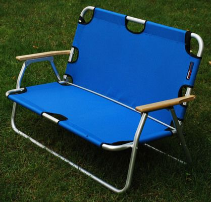 Large Blue Outdoor Folding Beach Chair   Large Sport Couch For 2 People    73 Best Part 72