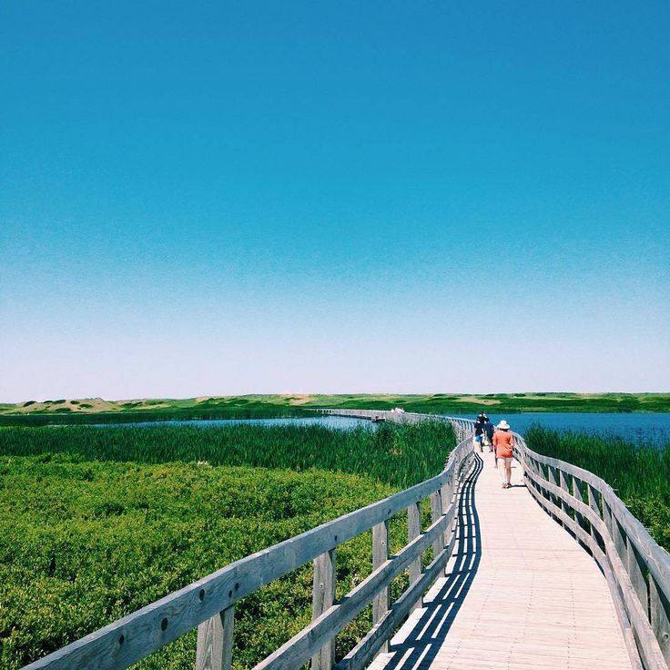 Prince Edward Island Beaches: Boardwalk To The Beach At Greenwich Dunes On Prince Edward
