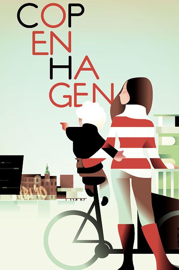 Mads Berg Art-deco illustration Posters | Trendland: Fashion Blog & Trend Magazine