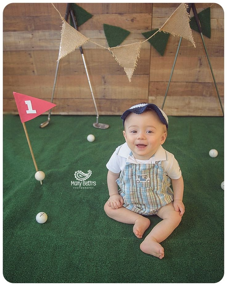Golf Themed Cake Smash and 1st Birthday portraits for Mary Beth's Photography in Augusta, GA | Augusta GA Newborn Photographer, Augusta GA Family Photography #1stbirthday #cakesmash #customphotographysets #augustaga #cakesmash #funtobeone #adorable #indoorcakesmash #golf #golfthemedcakesmash