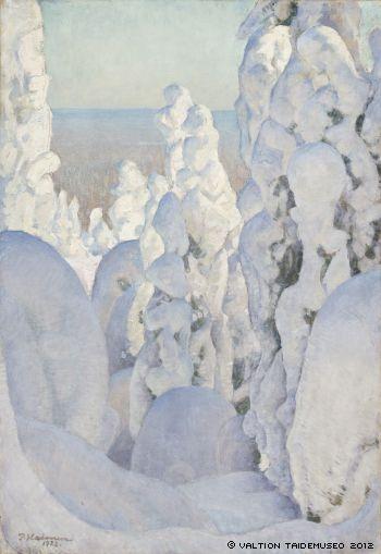 Pekka Halonen - Talvimaisema Kinahmista (1923, öljy kankaalle)