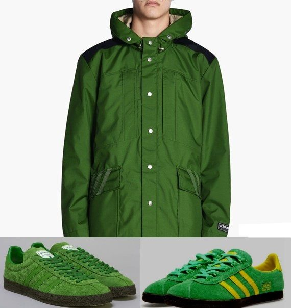 A cracking release from the adidas AW2017 Spezial programme is the Ardwick jacket, made to tie in with the now famous Ardwick trainers. I thought I'd also try a pair of classic Trimm Stars with the jacket to give a bit of contrast with the yellow stripes - which would you choose?