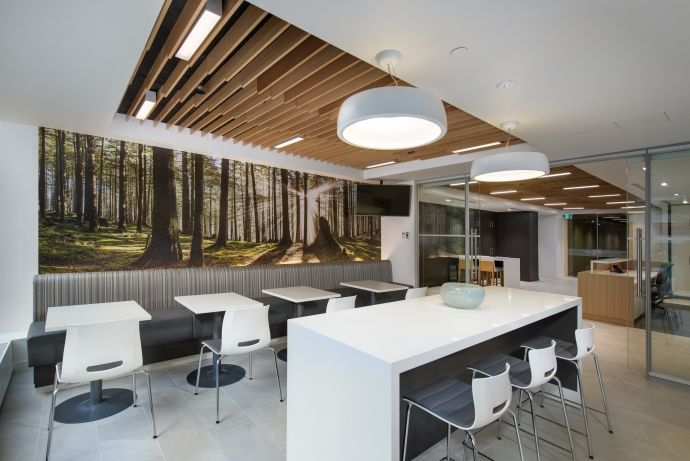 Interior design of Cadillac Fairview's Vancouver office by award-winning interior design firm SSDG Interiors Inc.