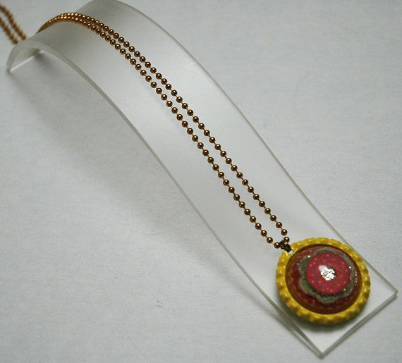Resin Necklace Bottlecap Necklace Doughnut by KwaiJewellery, $29.95
