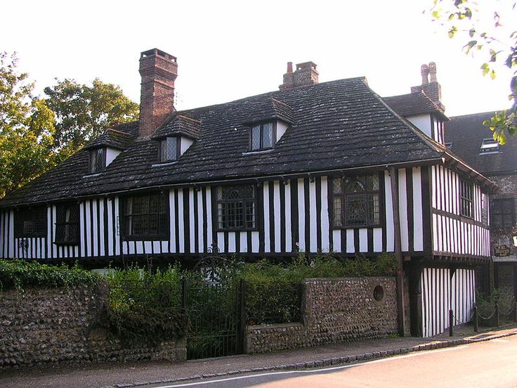 Bramber, West Sussex - another village that we walk to when we lived in Mile Oak, Portslade in the 70s - photo of St Mary's House,  Bramber