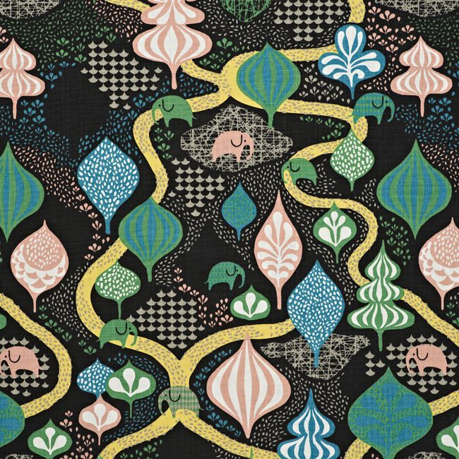 Littlephant - Saga forest cotton print fabric