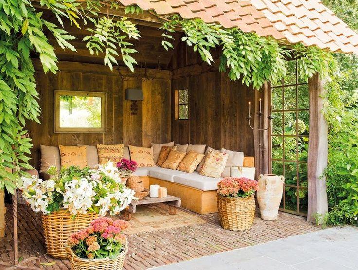 domek na wsi, wnętrza, dom, wystrój wnętrz, styl wiejski, styl rustykalny, weranda, ogród
