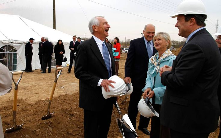 On hand for the ground breaking Wednesday morning on Nov. 3, 2010 in Lexington, Ky.  for the new Tiffany & Co. jewelry manufacturing facility on Innovation Drive were Gov. Steve Beshear, left, Larry Hayes, Economic Development Cabinet secretary, First Lady Jane Beshear, and Tiffany senior vice president John Petterson, right.  The 25,000 square-foot plant will employ 125 and is expected to be completed in the spring.   Photo by David Perry | Staff