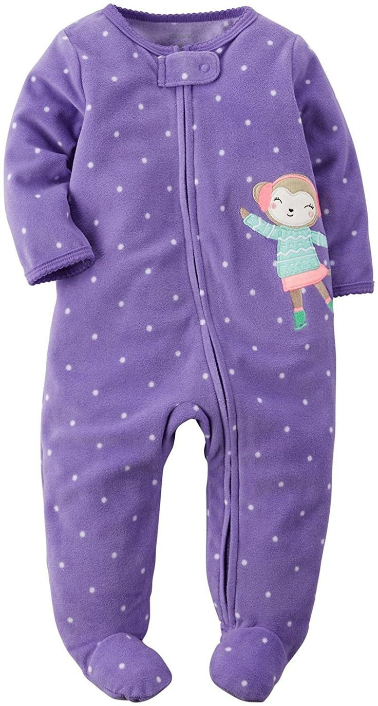 Carter's Baby Girls' 1-Piece Footed Fleece Pajamas *** Awesome product. Click the image : Baby clothes