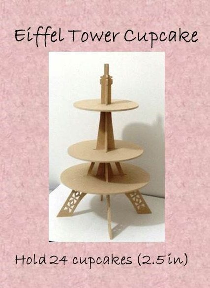 Cupcake stand-eiffel tower on Etsy, $410.40