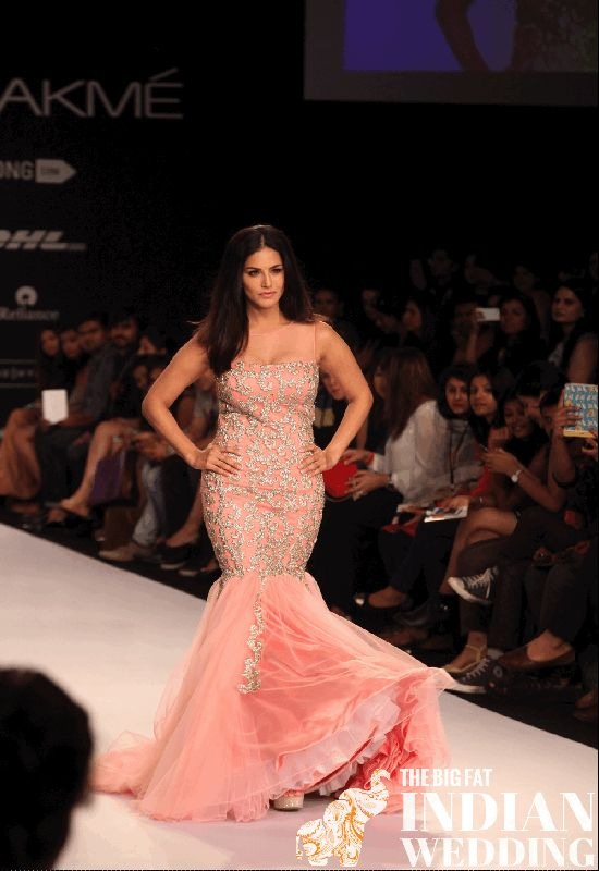 Sunny Leone for Jyotsna Tiwari's Summer Ballgowns {Lakme Fashion Week 2014} - TheBigFatIndianWedding.com