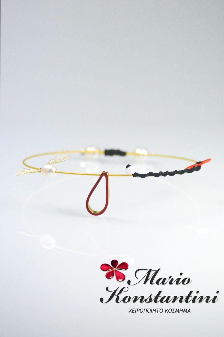 Mario Konstantini kosmhma-braxioli handmade jewelry bracelet with raindrop  Mario Konstantini Χειροποίητα Κοσμήματα