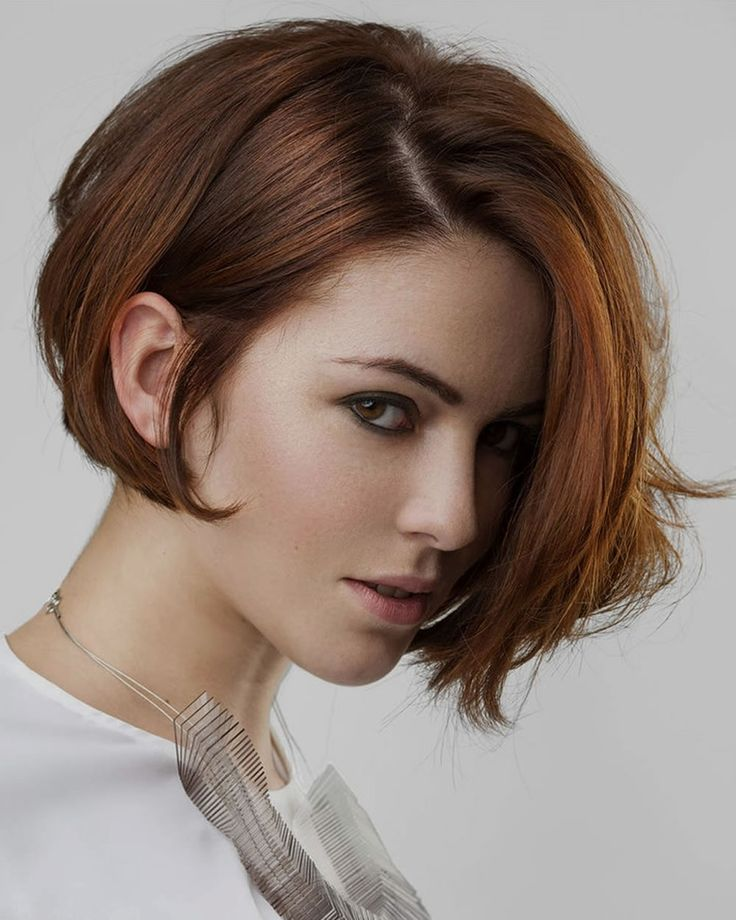 Slojevita paž/bob frizura crvenokosa