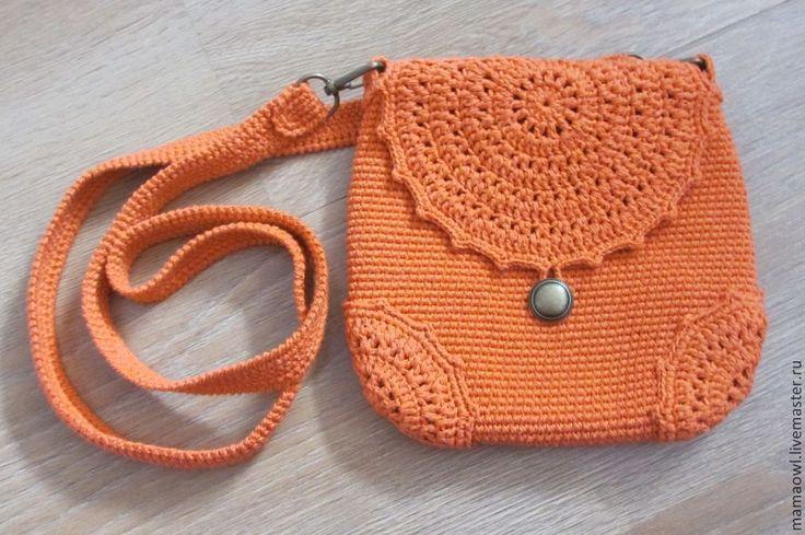 Купить Белкина - рыжий, вязаная сумочка, Вязание крючком, маленькая сумочка…