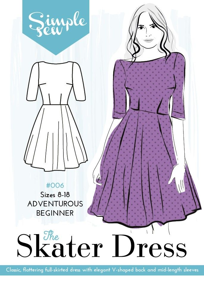 The Batwing dress & jumper sewing pattern by designer Simple Sew, find out more and read reviews of this dressmaking sewing pattern here!
