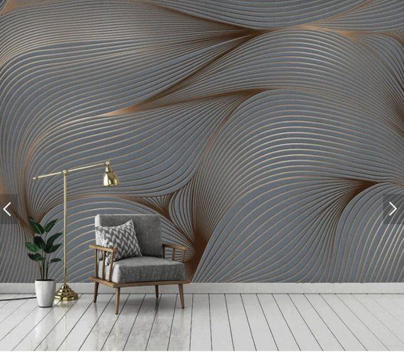 Abstract Geometric Stripe Line Wallpaper Mural Art Wall Decals Printed Photo Wall Paper Rolls Contac