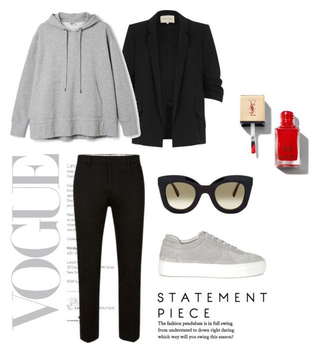 Grey by ellensennerman on Polyvore featuring River Island, Axel Arigato and CÉLINE