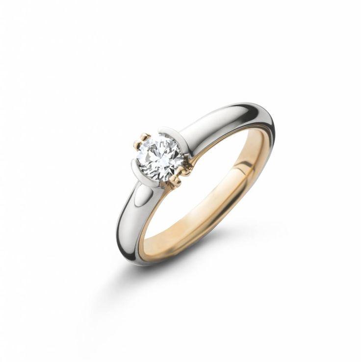 SC Jewellery Ring Solitair Goud / Platina / Diamant - Schaap en Citroen