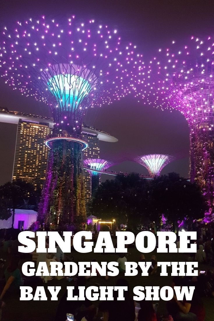 Gardens By The Bay Light Show In Singapore Supertrees From Avatar
