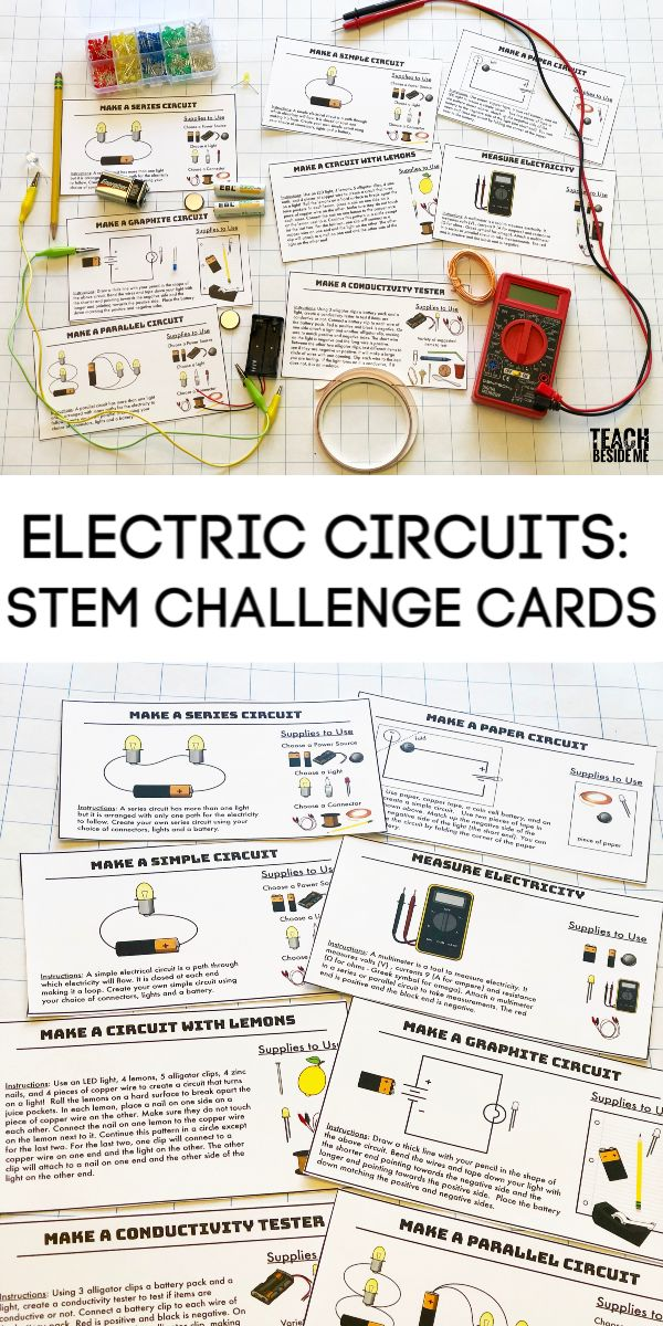 Building Electric Circuits: STEM Challenge Cards Awesome STEM challenge cards fo… – tamil