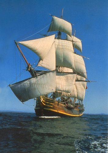 HMS Bounty - May she rest within the embrace of the sea.